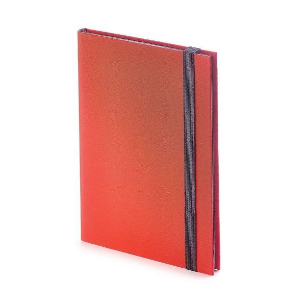 Еженедельник недатированный Tango, B6, бежевый блок, черный обрез, ляссе красный с нанесением логотипа