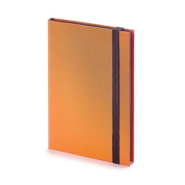 Еженедельник недатированный Tango, B6, бежевый блок, черный обрез, ляссе оранжевый с нанесением логотипа