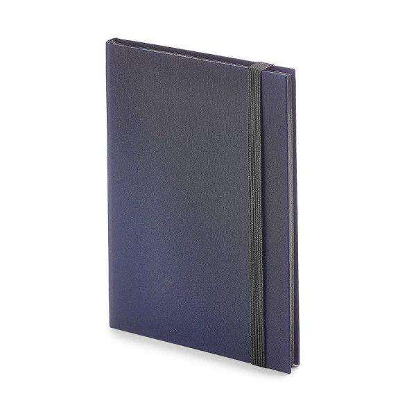 Еженедельник недатированный Tango, B6, бежевый блок, черный обрез, ляссе синий с нанесением логотипа