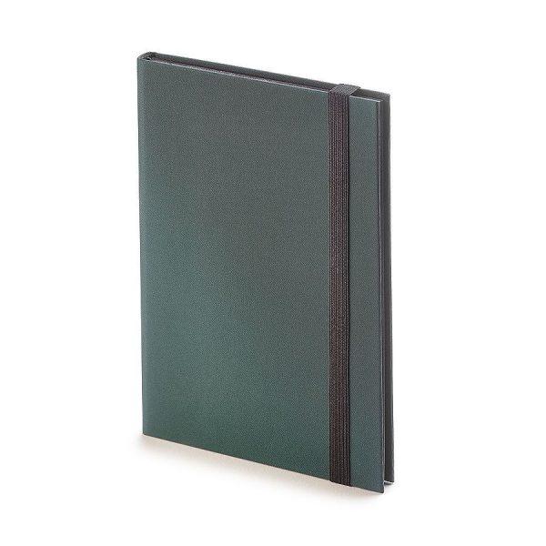 Еженедельник недатированный Tango, B6, бежевый блок, черный обрез, ляссе зеленый с нанесением логотипа