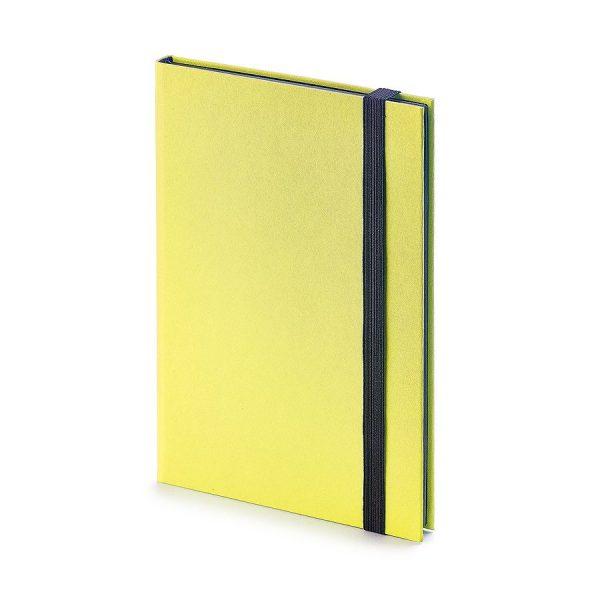 Еженедельник недатированный Tango, B6, бежевый блок, черный обрез, ляссе желтый с нанесением логотипа