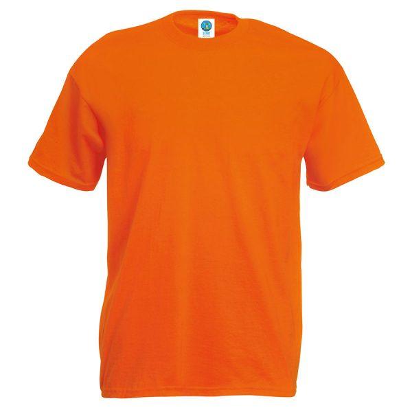 Футболка бесшовная Start оранжевая с нанесением логотипа