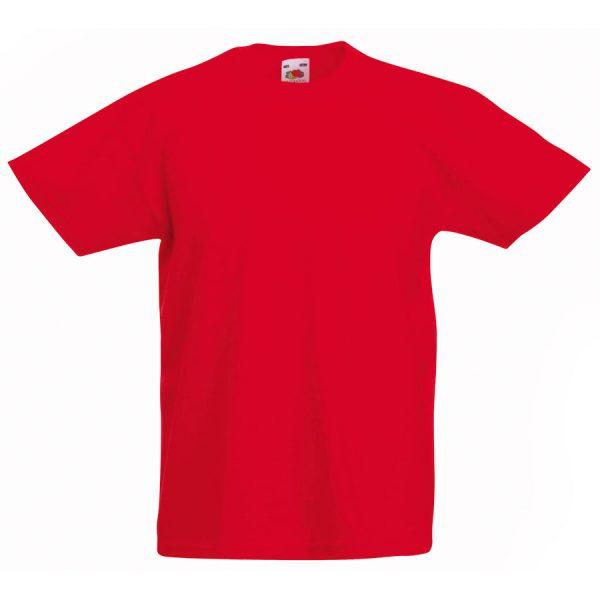 Футболка детская Kids Original T красная с нанесением логотипа