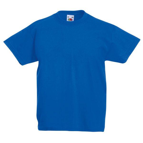 Футболка детская Kids Original T синяя с нанесением логотипа