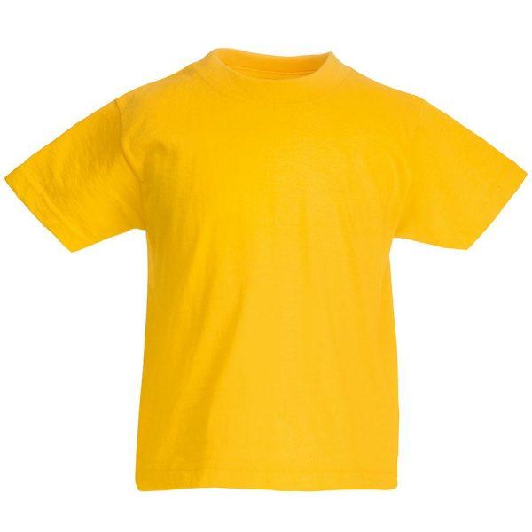 Футболка детская Kids Original T желтая с нанесением логотипа