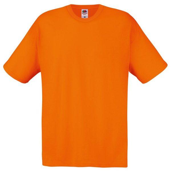 Футболка мужская Original Full-Cut T оранжевая с нанесением логотипа