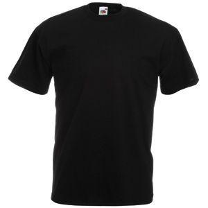 Футболка мужская Valueweight T черная с нанесением логотипа