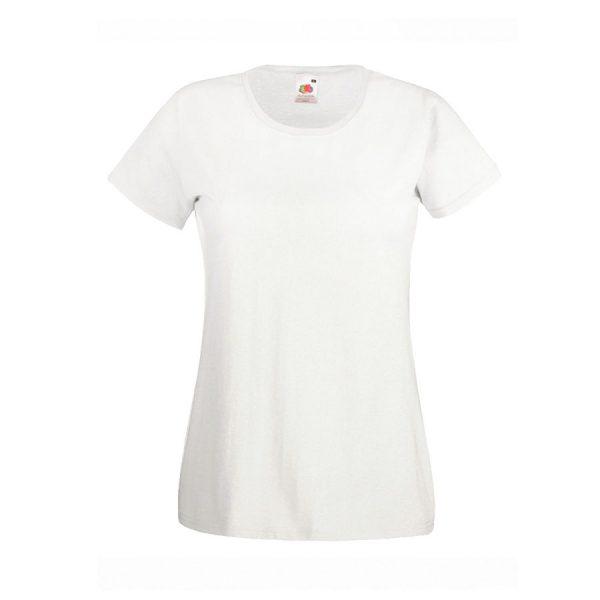 Футболка женская Lady-Fit Valueweight T белая с нанесением логотипа