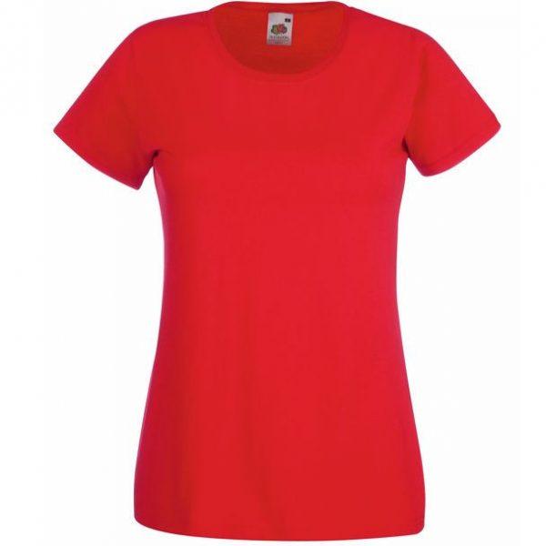 Футболка женская Lady-Fit Valueweight T красная с нанесением логотипа