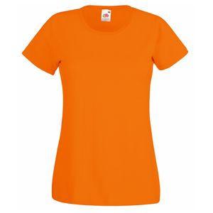 Футболка женская Lady-Fit Valueweight T оранжевая с нанесением логотипа