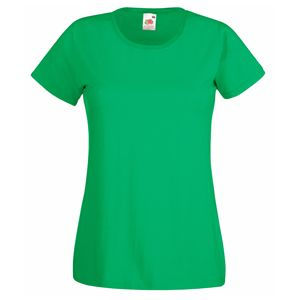 Футболка женская Lady-Fit Valueweight T зеленая с нанесением логотипа