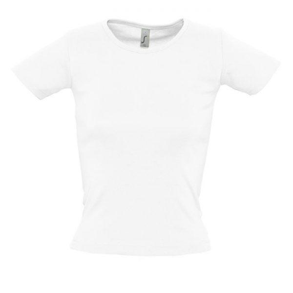 Футболка женская Lady O белая с нанесением логотипа