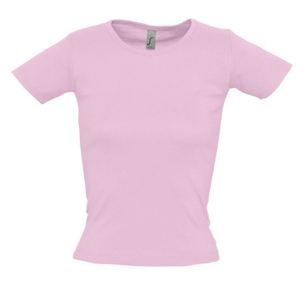 Футболка женская Lady O розовый с нанесением логотипа
