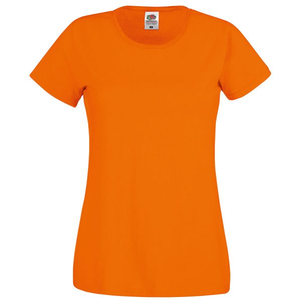 Футболка женская Original T оранжевая с нанесением логотипа