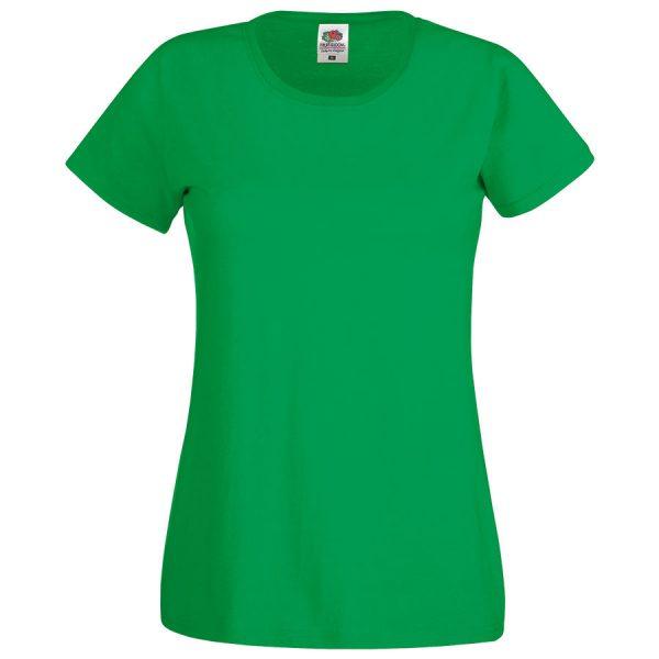 Футболка женская Original T зеленая с нанесением логотипа