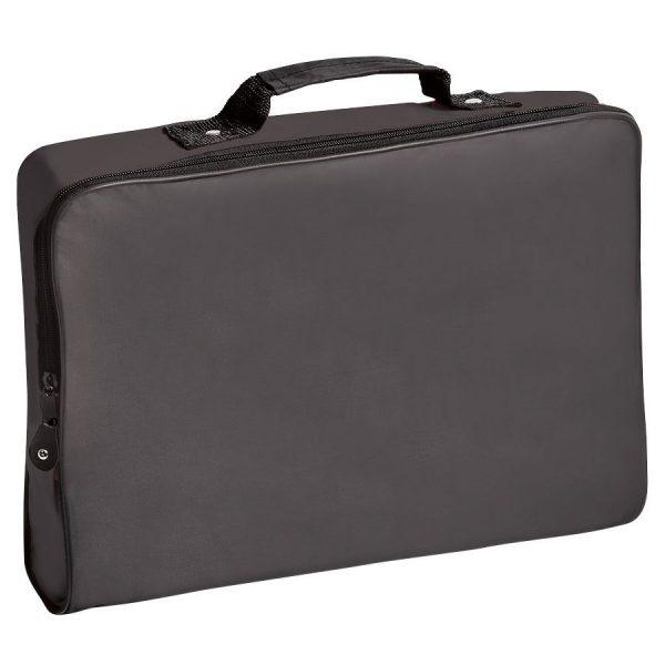 Конференц-сумка Folder черная с нанесением логотипа