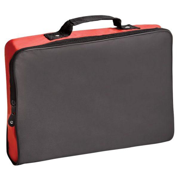 Конференц-сумка Folder черно-красная с нанесением логотипа