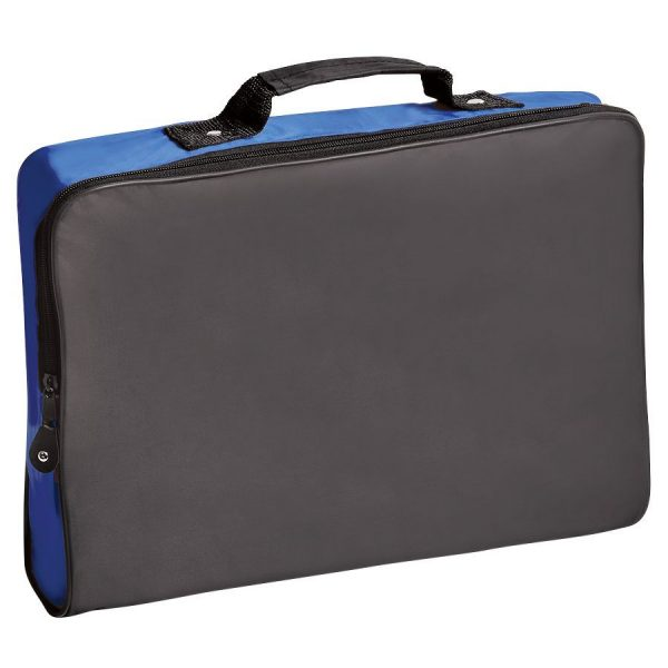 Конференц-сумка Folder черно-синяя с нанесением логотипа