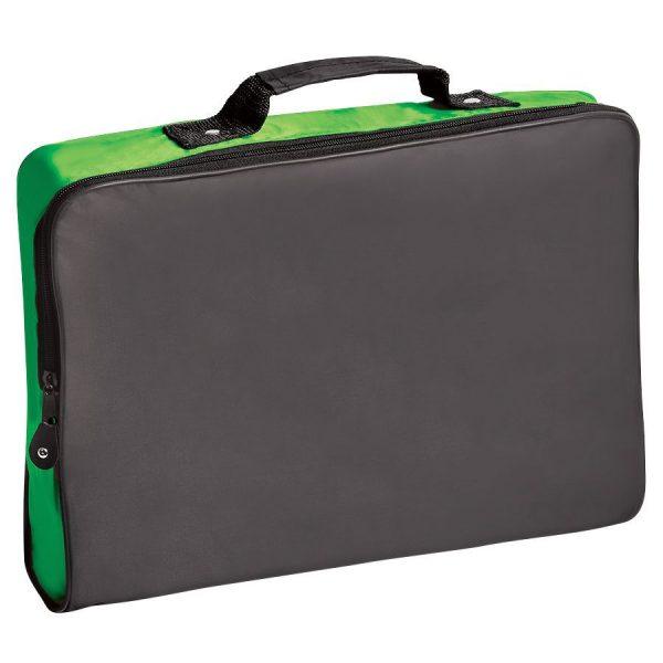 Конференц-сумка Folder черно-зеленая с нанесением логотипа