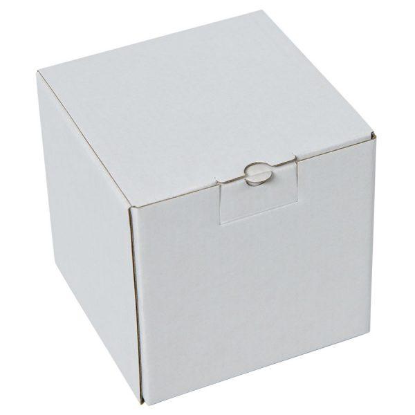 Коробка подарочная для кружки, микрогофрокартон белый с нанесением логотипа
