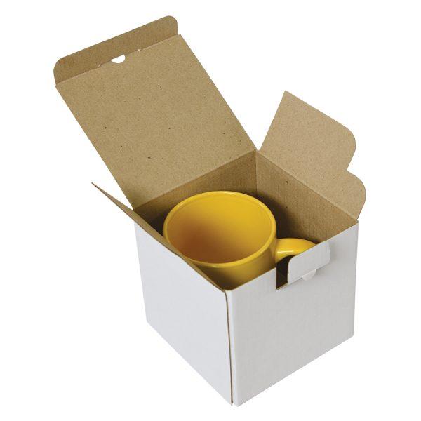 Коробка подарочная для кружки, микрогофрокартон развертка