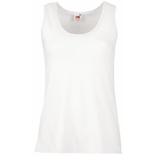Майка женская Lady-Fit Valueweight Vest белая с нанесением логотипа