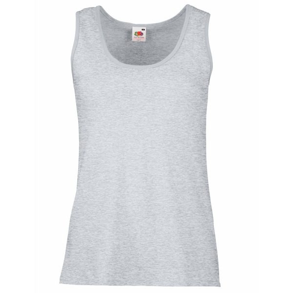 Майка женская Lady-Fit Valueweight Vest серая с нанесением логотипа