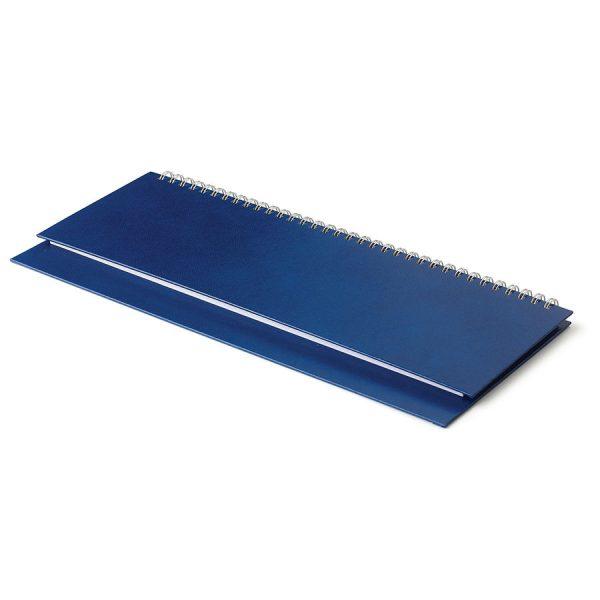 Планинг недатированный Ideal New, 305х130 мм, белый блок, открытый гребень синий с нанесением логотипа