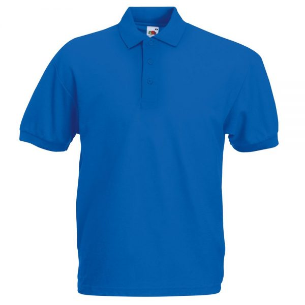 Поло 65/35 Pocket Polo синяя с нанесением логотипа