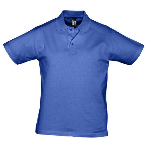 Поло мужское Prescott Men синее с нанесением логотипа
