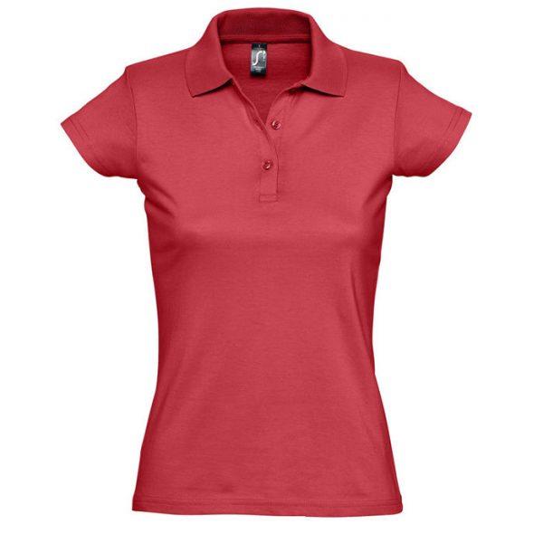 Поло женское Prescott Women красное с нанесением логотипа