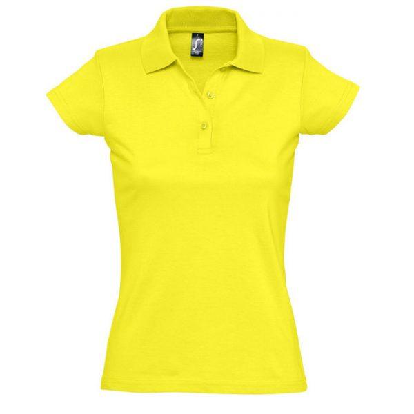Поло женское Prescott Women лимонное с нанесением логотипа