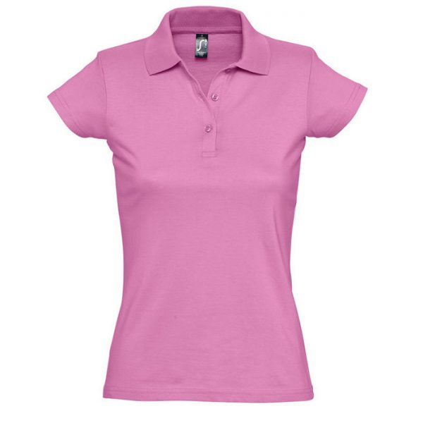 Поло женское Prescott Women розовое с нанесением логотипа