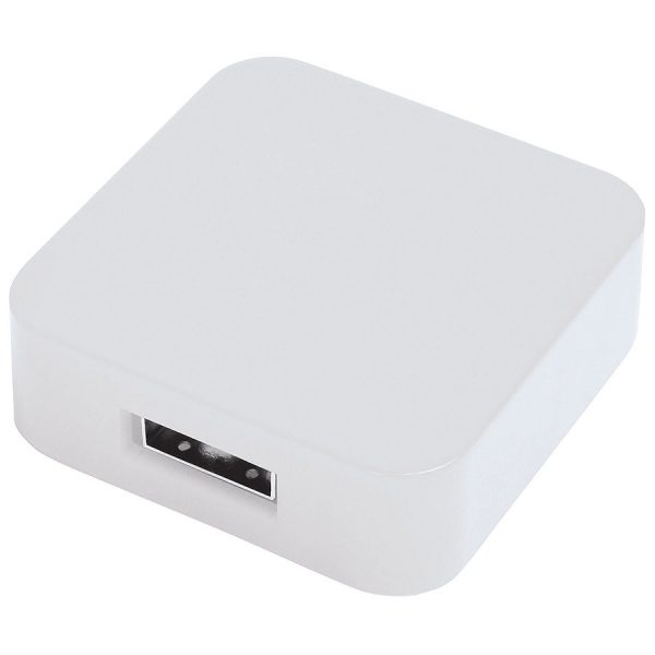 USB flash-карта Akor (8Гб) белая с нанесением логотипа