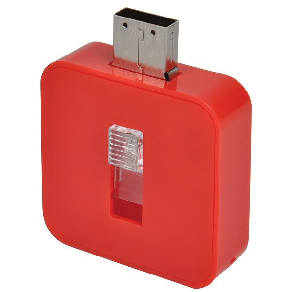 USB flash-карта Akor (8Гб) красная с нанесением логотипа развертка 1