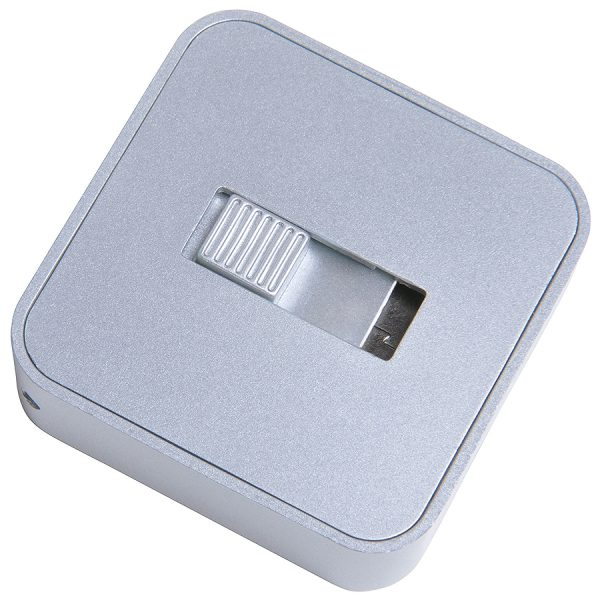 USB flash-карта Akor (8Гб) серебристая с нанесением логотипа развертка 1