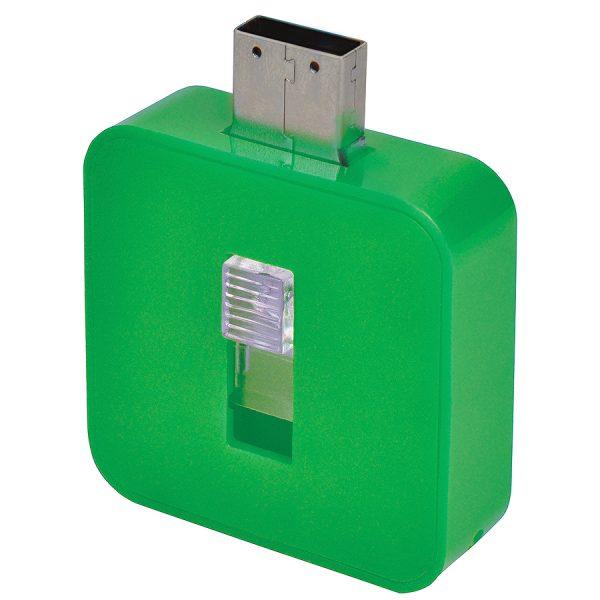 USB flash-карта Akor (8Гб) зеленая с нанесением логотипа развертка 1