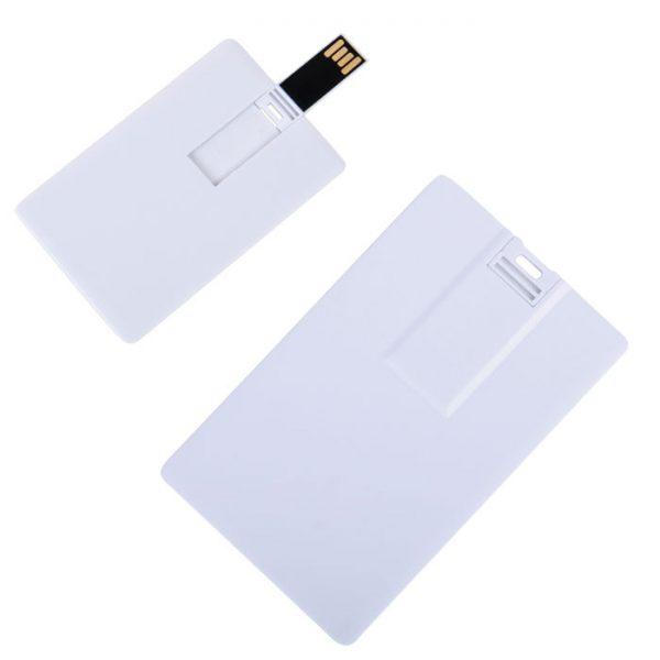 USB flash-карта Card (8Гб) белая с нанесением логотипа
