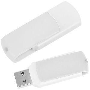 USB flash-карта Easy (8Гб) белая с нанесением логотипа
