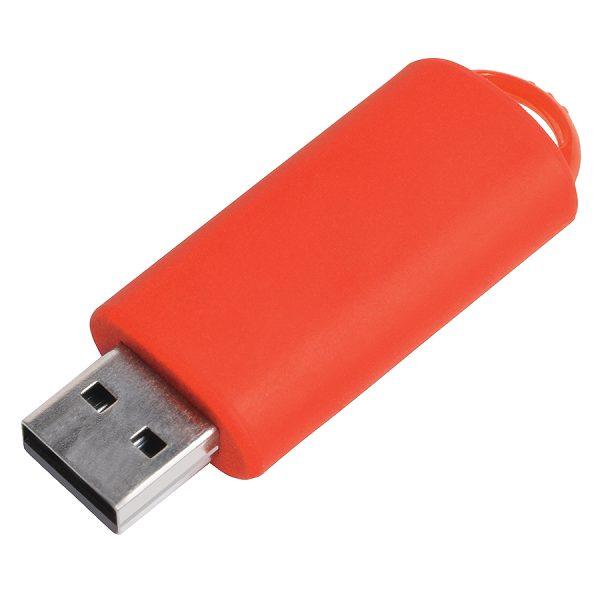 USB flash-карта Fix (8Гб) красная с нанесением логотипа
