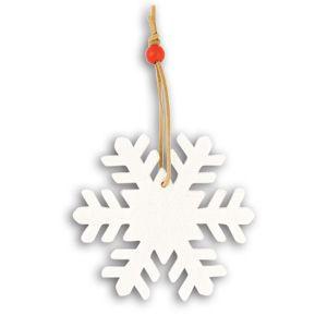 Украшение на елку Снежинка с нанесением логотипа