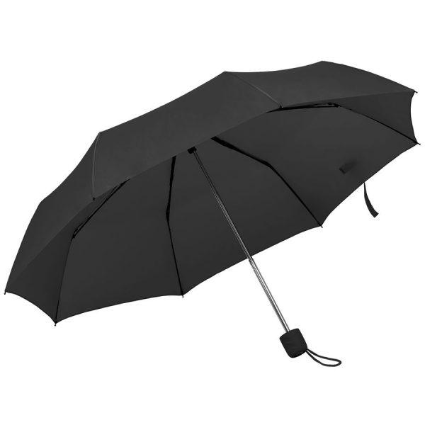 Зонт складной Foldi, механический черный с нанесением логотипа