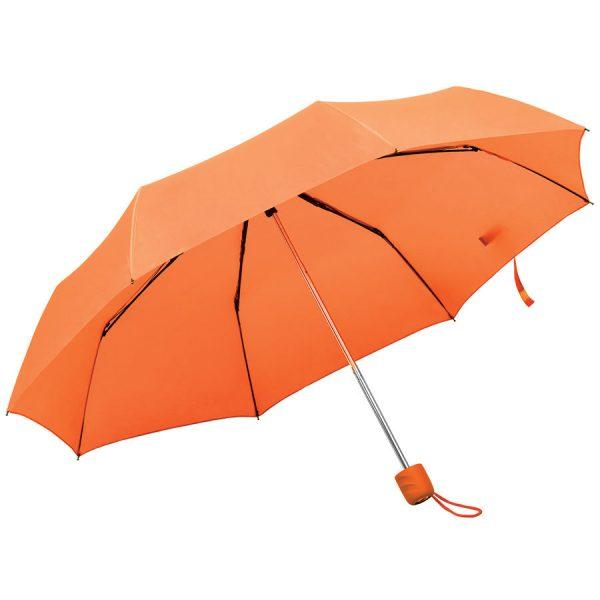 Зонт складной Foldi, механический оранжевый с нанесением логотипа