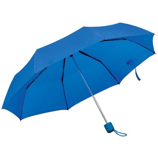Зонт складной Foldi, механический синий с нанесением логотипа