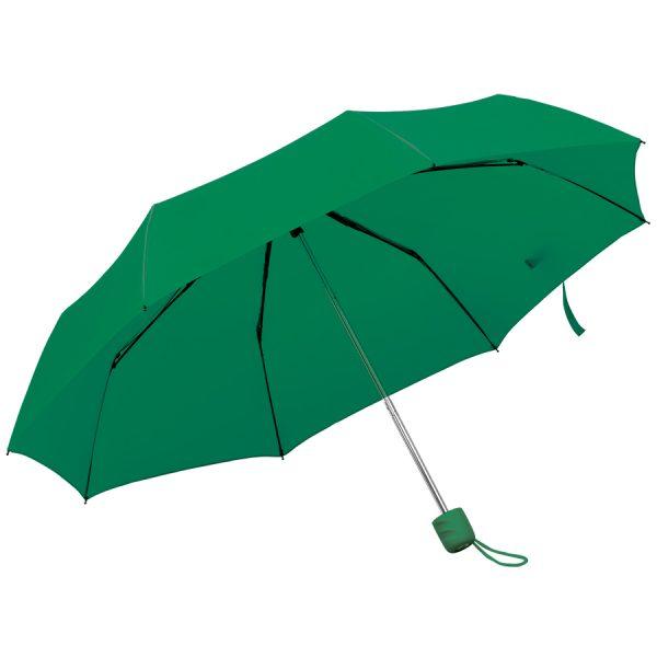 Зонт складной Foldi, механический зеленый с нанесением логотипа