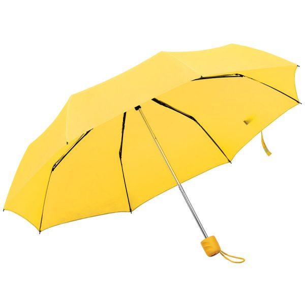 Зонт складной Foldi, механический желтый с нанесением логотипа