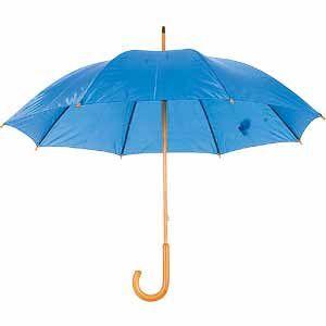 Зонт-трость механический синий с нанесением логотипа