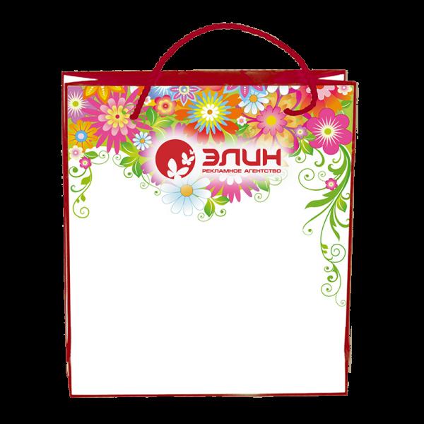 Пакеты с нанесением логотипа компании вариант №1