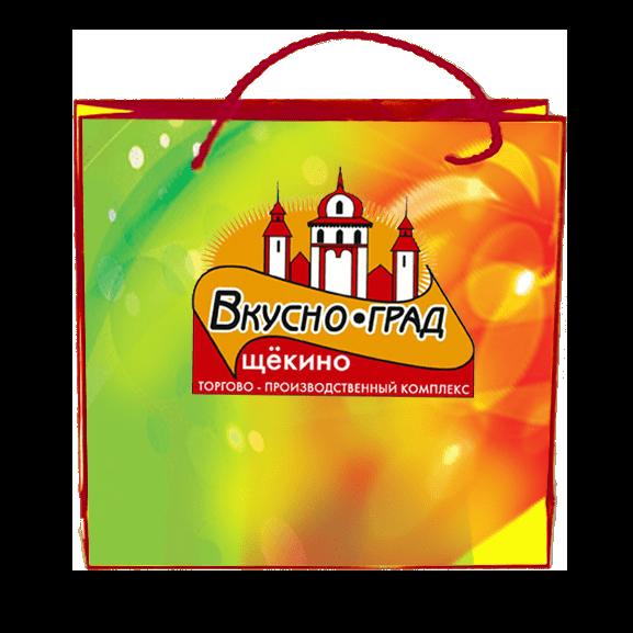 Пакеты с нанесением логотипа компании вариант №2