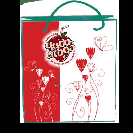 Пакеты с нанесением логотипа компании вариант №4